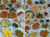 【料理一例】充実の食べ放題バイキング!ボリュームたっぷりのご夕食です。