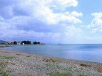 宿からすぐ!穏やかな琵琶湖が広がります☆