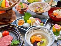 【極和茶会席】最上級の料理コース。料理長が厳選した佐賀牛が付きます。