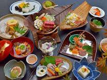 【極和茶会席/神無月】山の幸・海の幸ともに、厳選した旬の食材を料理長自ら腕を振るいます