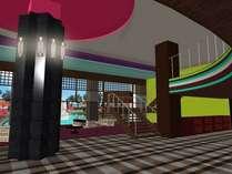 ロビーイメージ。毎日夕食後ロビーホールにて「お祭り広場」として映像と音響や実演などで楽しめます★