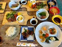 ☆夕食☆イタリアンやアジアンなどのオシャレな一品がたくさん!