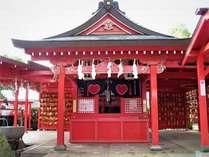 全国一社 恋の神様 恋木神社  2月,3月は境内がピンク一色に染まります!