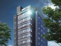 【外観】2018年10月1日新規開業!堀川通り沿いに佇む10階建てホテル。屋上テラスもございます
