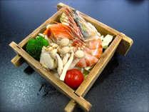 【期間限定】彩り花かご膳ぷらん♪3種の海鮮セイロ蒸し付き