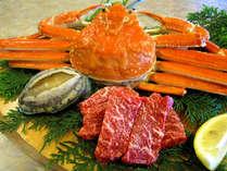 【ずわいカニ!活きあわび!長崎和牛付】焼肉・お寿司と季節味覚の食べ放題♪