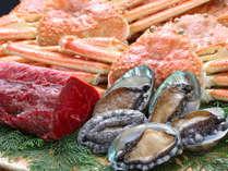 【ずわいカニ!あわび!長崎和牛付き】と焼肉・お寿司と季節味覚の食べ放題♪さらに飲み放題付き!