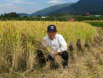 当館でお出ししている、コシヒカリ米の生産者(木島平村)の「小松荘平」さんです。