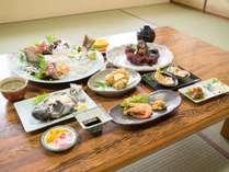 *【お料理】夕食(しらすの揚げ物と煮魚)~季節により変わります。