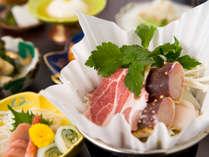 **浜松ポークを始め、静岡(駿河)の幸をふんだんに盛り込んだ「駿河鍋」。