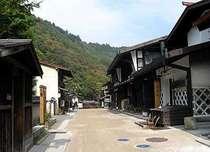 昔ながらの街並みが残る、木曽福島宿