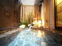 ■女性大浴場外気浴しゃちほこからお湯がでます!!