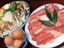 奈良の和牛「大和牛」すき焼(写真は2人前)