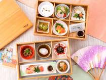 ◆当館自慢の豪華な朝食♪木曽檜のお重に入ったお料理は目でも舌でも愉しめます♪