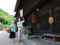中山道の宿場町に位置する当館 一歩外に出れば古い町並みが立ち並ぶ♪