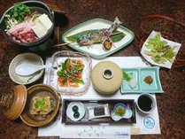 【夕食一例】信州の味覚をふんだんに使ったお料理です!