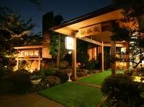 松仙閣・・・風情ある夜の玄関