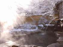 【お見合い露天風呂】雪見露天でのんびりくつろぐ
