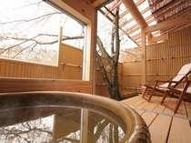 【露天風呂付き客室】気兼ねなくゆっくりお寛ぎいただけます。