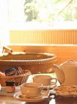 露天風呂付き客室のカップルプラン特典・・・ティーセットとプチスイーツ♪