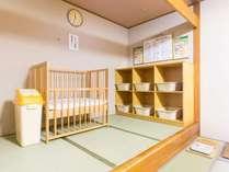 【大浴場】男湯・女湯ともにベビーベッド完備。小さなお子様連れも大歓迎です!