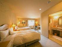 ◆スタンダード◇ツイン◆優しい光と、こだわりいっぱいの家具に囲まれる♪のんびりとお寛ぎ下さい。