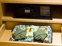 和リゾート浪漫客室「テンキー式金庫・浴衣」