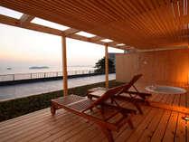 庭園露天風呂付客室2間【天の海】ジャグジー