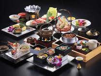 乙姫(チョイス:鮑&みかわ牛)お料理一例