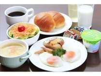 朝食は和食・洋食・和洋食より選択いただけます♪チェックイン時にお選びください。(画像は洋食)