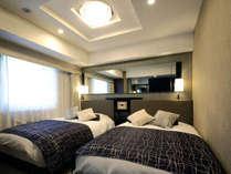 デラックスツインルーム(広さ22平米/ベッド幅122cm×2台)