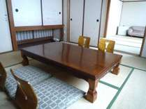和室6畳+6畳次の間付タイプのお部屋です。ファミリー、カップルにも最適!