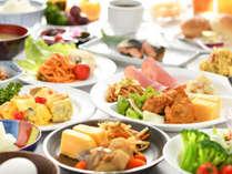 ■朝食バイキング■和食から洋食まで、丹精込めたおかずをご用意!つやつや炊き立ての白米が進みます