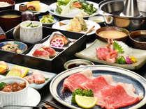 【Aランク山形牛 しゃぶしゃぶ膳】霜降り肉をさっぱり味わう。野菜の出汁で旨みが増す、こだわり膳