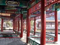 【中国庭園 燕趙園】宿から徒歩5分ほど。