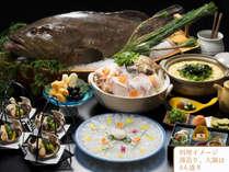 贅沢食材『クエ』を楽しむ♪♪薄造りから大鍋まで季節の味覚を大切な方と♪(薄造り・大鍋は4人盛り)
