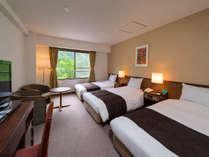 トリプルルームは追加ベッドなしの3ベッドルーム