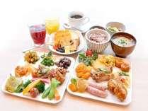 【朝食ブッフェ】種類も豊富で、栄養満点・美味しいお料理をお腹いっぱい召し上がれ♪