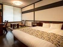 ダブル・ツイン・和室と3タイプのお部屋をご用意しております。和モダンなひとときをお過ごしください。