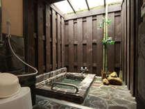 ◆【客室半露天風呂】お部屋には全室専用の半露天風呂が付いています。