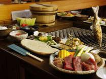 ◆【料理・冬季】冬季はいろりの夕食をお出ししております。