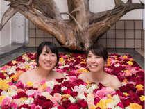 【レディース】お日にち限定♪女湯がバラ風呂に☆『ごっくん馬路村』ドリンク付で女子旅にピッタリ◎
