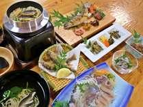 *【天然鮎フルコース】天然鮎を7匹ばあ使うちゅうき。