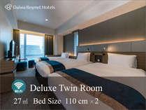 デラックスツインベッドを1台追加で最大3名様までご宿泊可