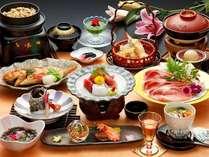 『夕波コラーゲン鍋付』 「三河秀麗豚コラーゲンスープ鍋」が絶品!新鮮な海の幸も満載です。(全13品程)