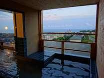 大浴場「海峡の湯」ホテル5階、女子のみ露天風呂あり