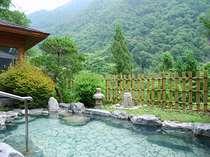 夏の露天風呂