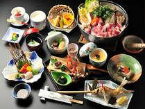 あわしま伝統の味「山賊鍋」をメインとした夕食懐石(イメージ)