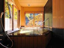 秋の貸切風呂「水芭蕉」