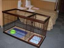 ペット専用の客室、ツインルーム。